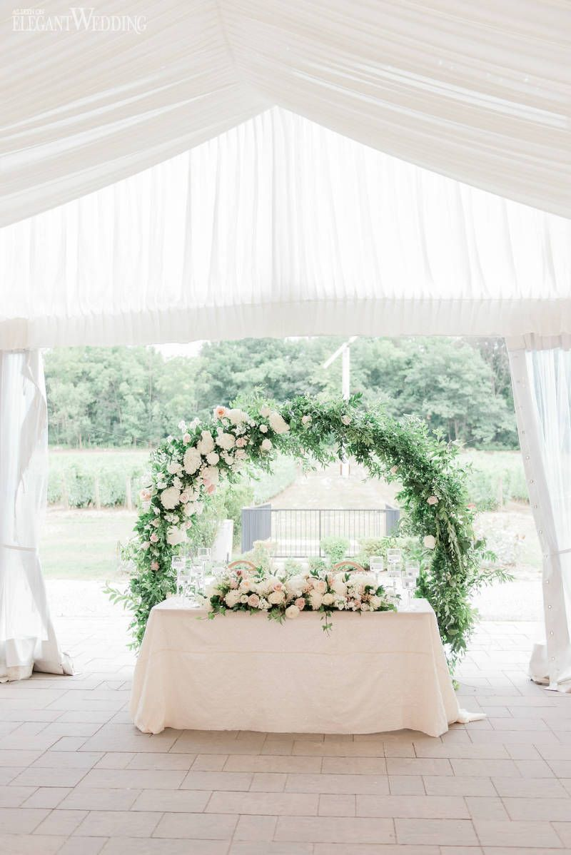 A Dreamy Winery Wedding With A Lush Floral Arbour Head Table