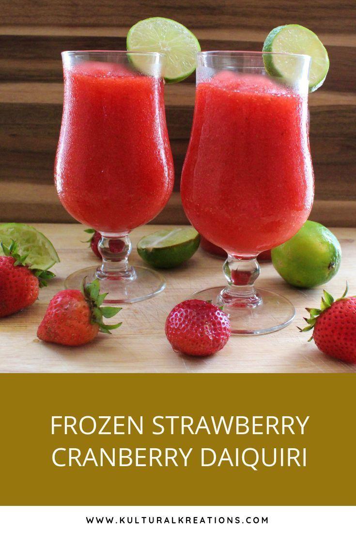Frozen strawberry cranberry daiquiri recipe strawberry