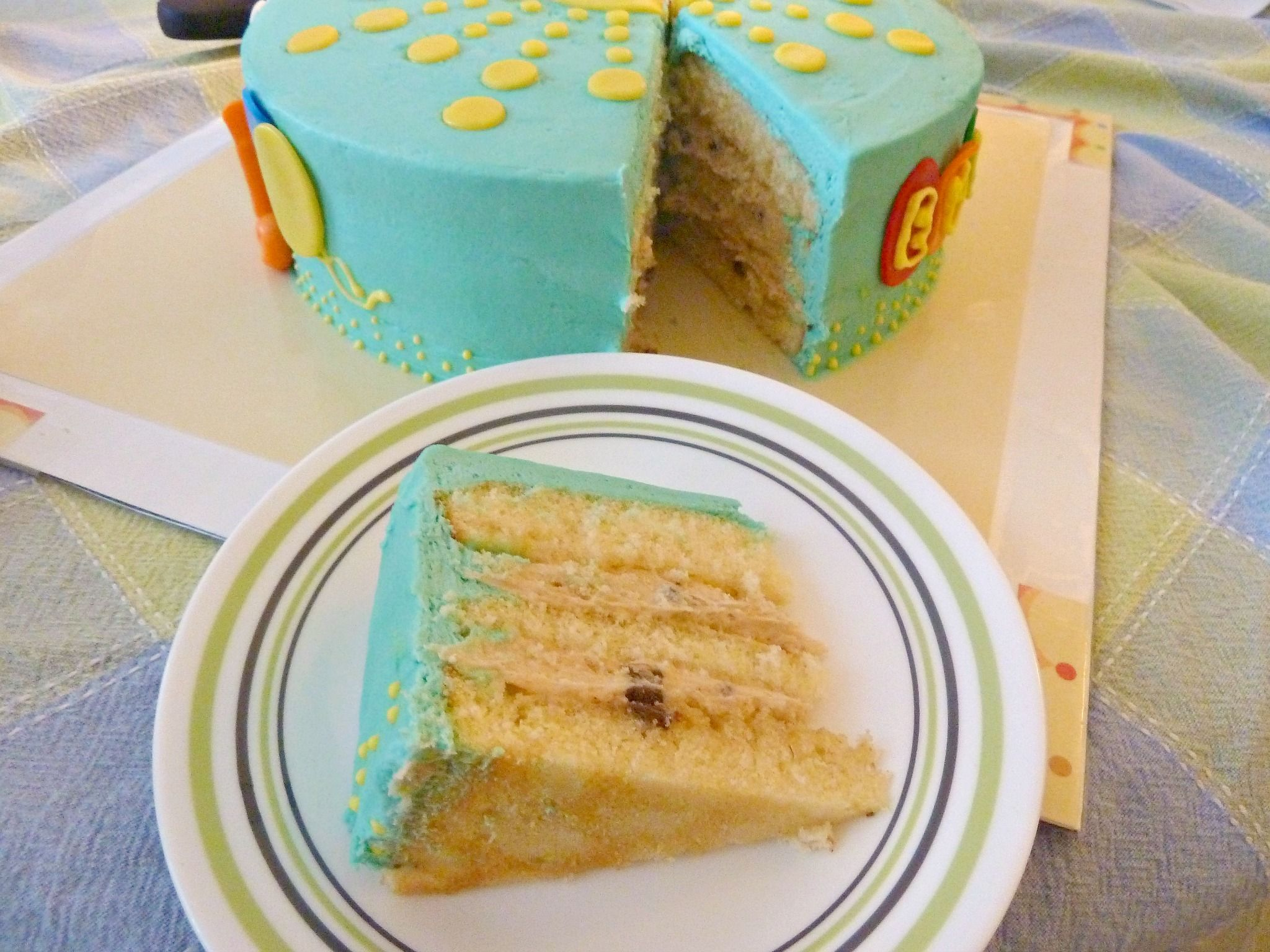 cookie dough overload cake ... filling, frosting & eggless cookie dough ... YUM