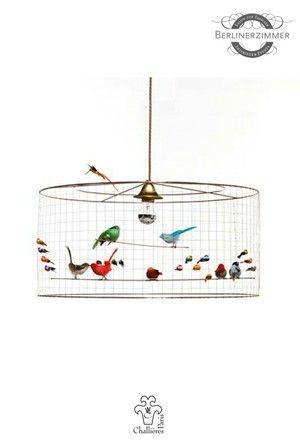 Mathieu challieres paris bird lamp demi grande aviary 66 x 33 das berlinerzimmer wire lampshadeinterior greentooth Gallery