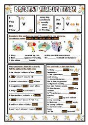 Aprendiendo Inglés Fácil Y Divertido The Present Simple Educacion Ingles Ingles Aprender Inglés
