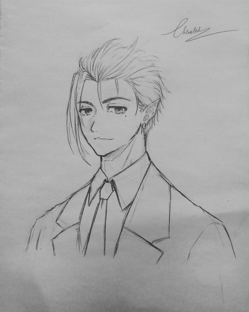 403 Forbidden Slicked Back Hair Manga Hair Animation Art Sketches