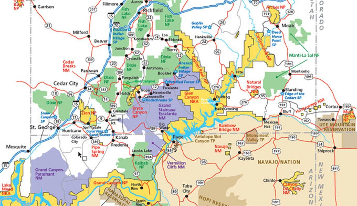 Utah Parks Area Map Pdf This Utah Park Regional Map Shows