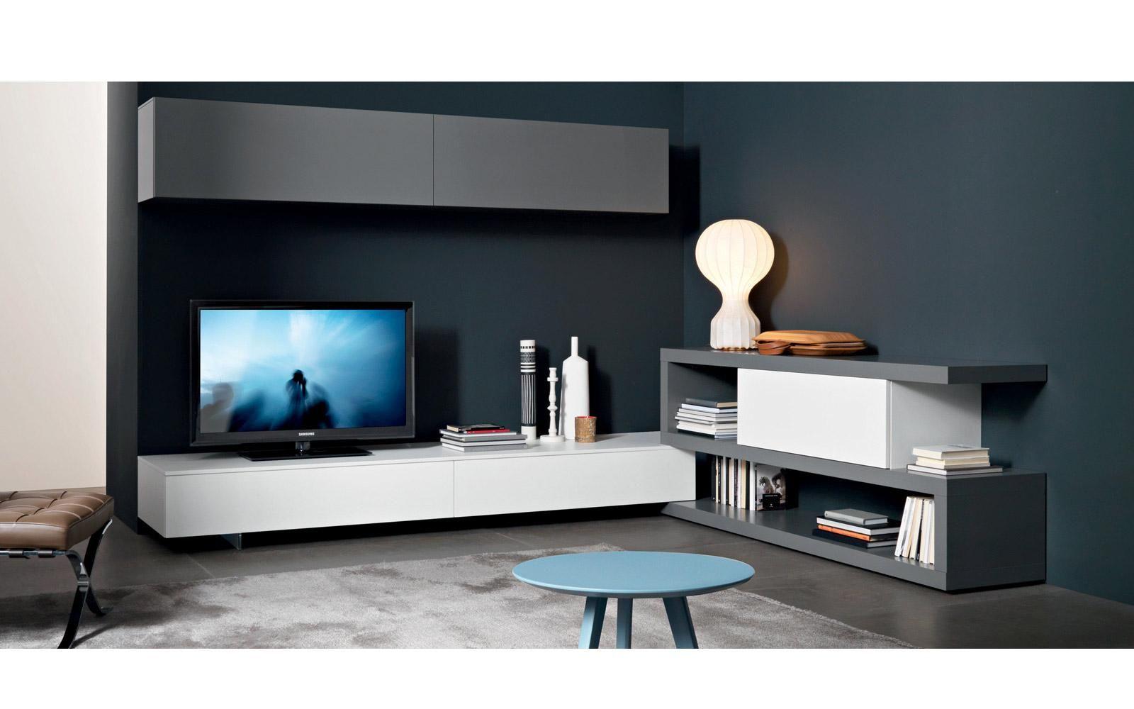 TV Wand Lampo L8-83A Eck Lowboard  Wohnen, Modernes wohnen