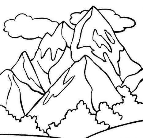 Ausmalbilder Berge #berge #malvorlagen #painting #