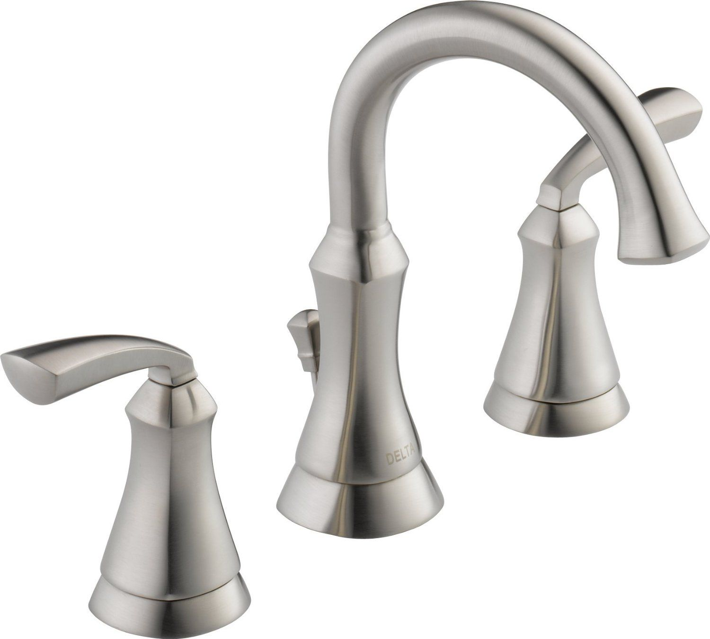 Delta Brushed Nickel Bathroom Faucets High Arc Bathroom Faucet