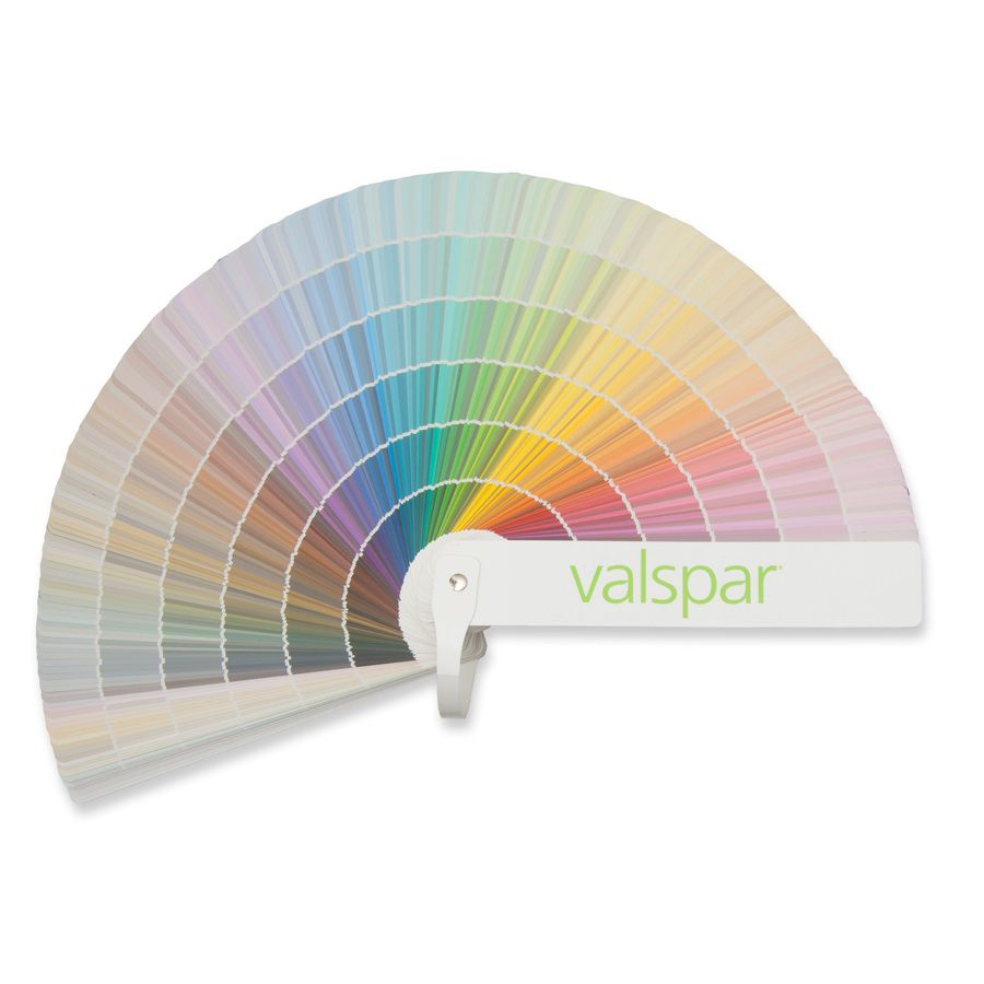 shop valspar 1750 color paint fan deck at lowes com on lowe s exterior paint colors chart id=36565