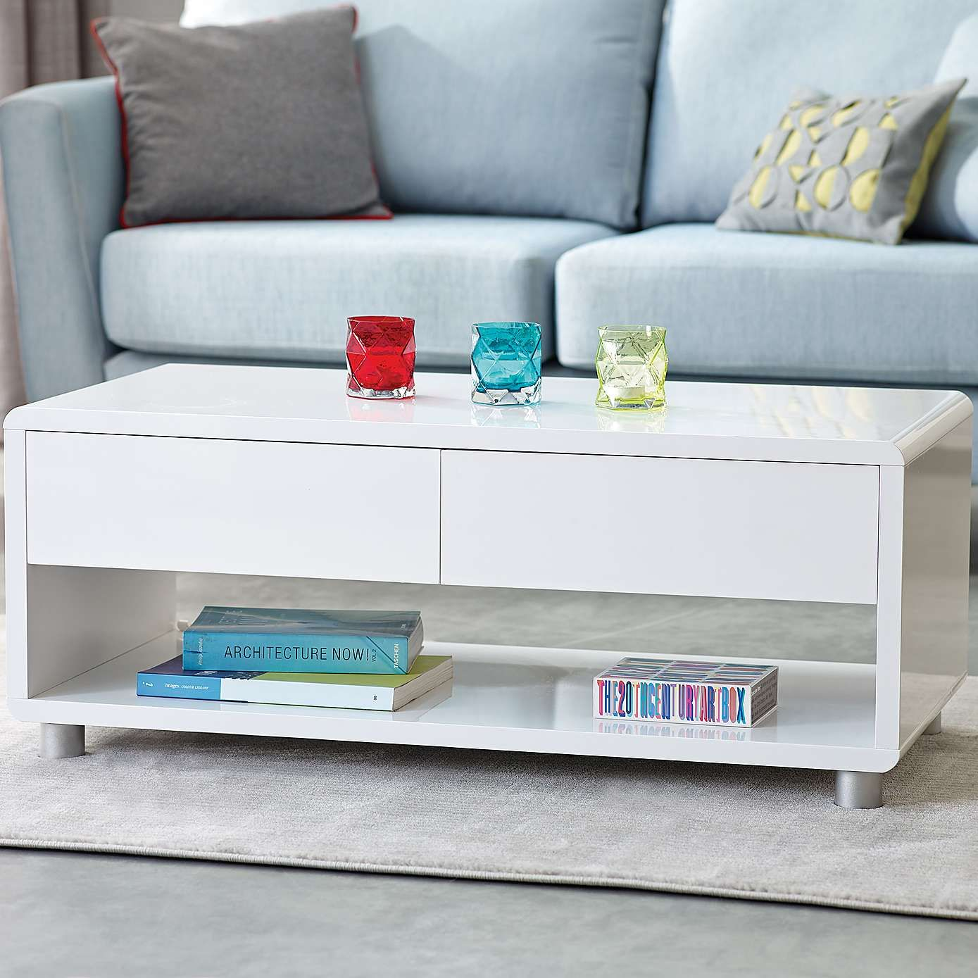 Soho white gloss coffee table dunelm 170 living room soho white gloss coffee table geotapseo Gallery