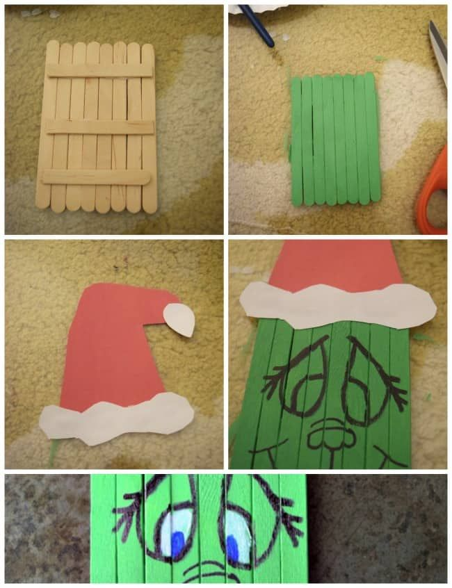 Photo of Popsicle Stick Grinch Craft for kids! – This Girl's Life Blog