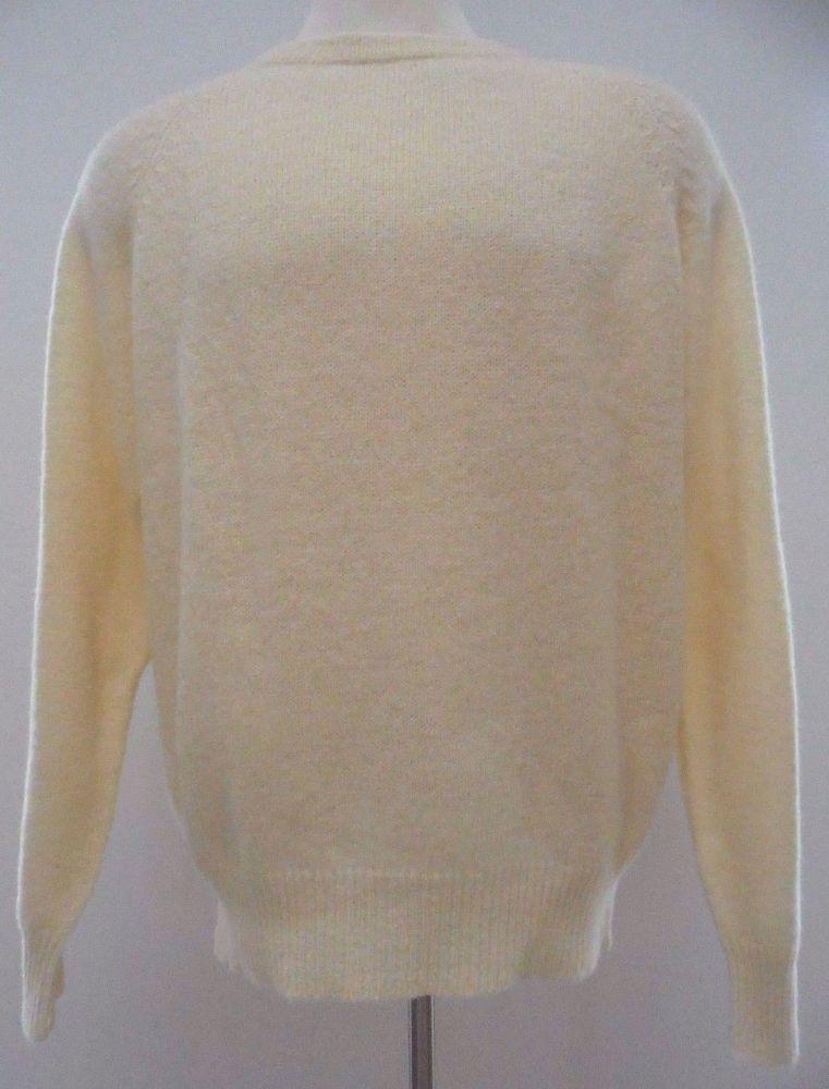 Harbour Classics Sweater L Men New Beige Ivory Shetland Wool Nwt Crew Neck Mens* #HarbourClassics #Crewneck