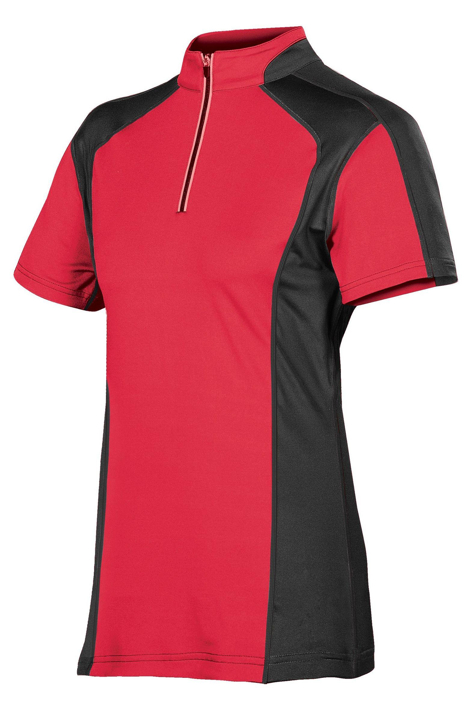 2 Tone Mandarin Collar Half Zipper T Shirt For Corporates