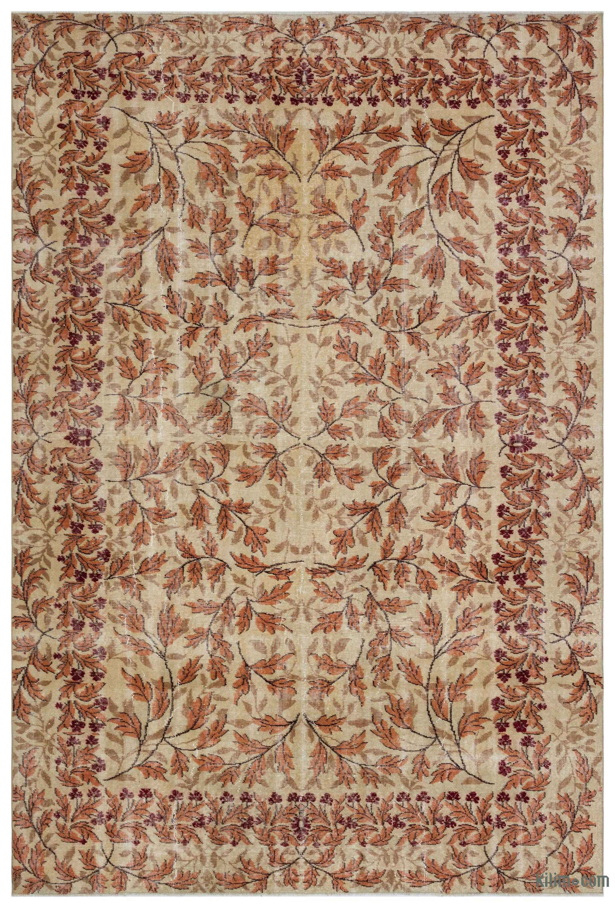 Turkish Vintage Area Rug 6 9 X 10 81 In X 120 In Vintage