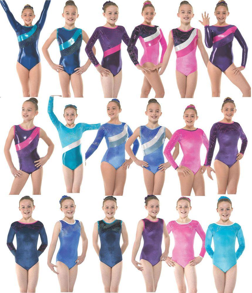 77436668d8f9 Gymnastics Leotards Velvet Lycra Metallic Gym Leotard Girls Long ...