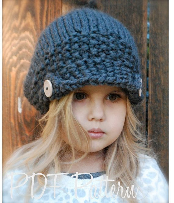 Knitting PATTERN-The Aralynn Slouchy (Toddler, Child and Adult sizes ...