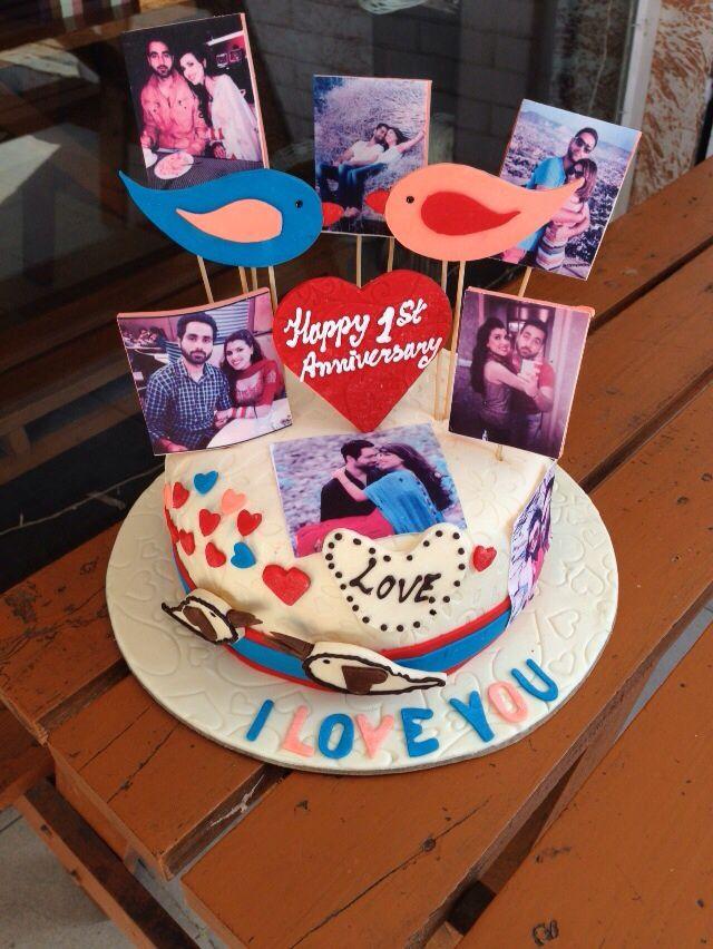 Tremendous 1St Anniversary Cake Surprise My Husband Greatjobbycakesquare Funny Birthday Cards Online Amentibdeldamsfinfo