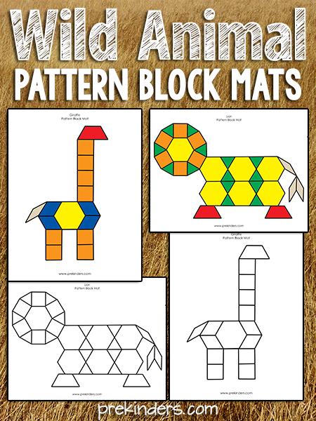 Pattern Block Safari Zoo Animals Preschool Pattern Blocks Zoo