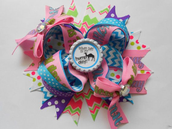 Hump Day Boutique Hair Bow by AllThingsGirlyBows on Etsy, $8.00