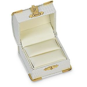 Antique Style Royal Oyster Single Engagement Ring Box With Domed Lip Gold Clasp Engagement Ring Box Antique Ring Box Antique Style Engagement Rings