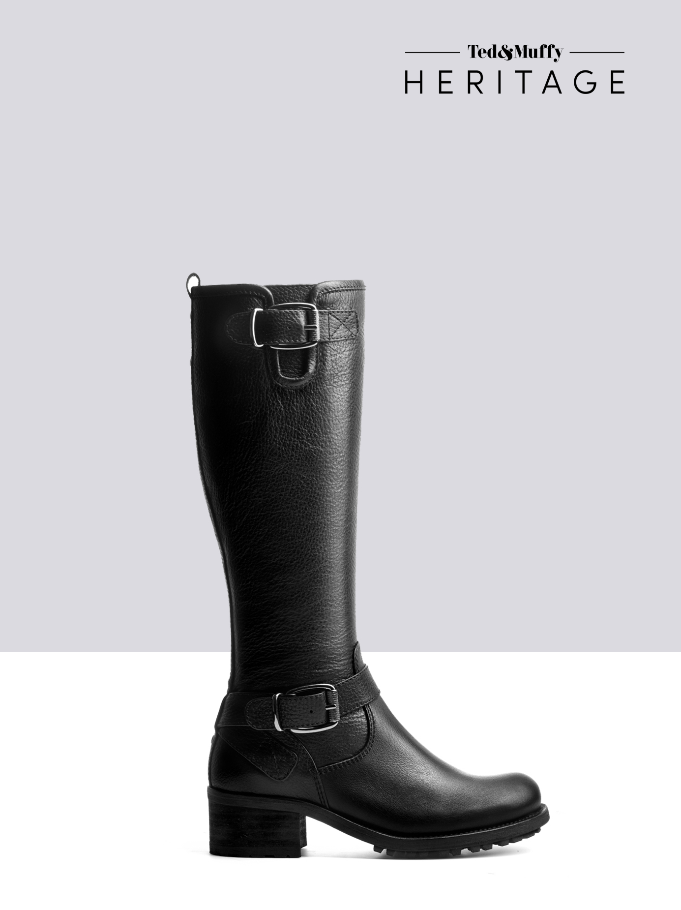 f87205554072a Demeter - Knee High Boots in Black Leather by Ted Muffy US   Shoes ...