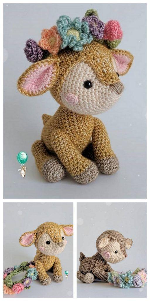 Crochet Rudy The Reindeer Amigurumi Free Pattern. - DIY Magazine | 1024x512