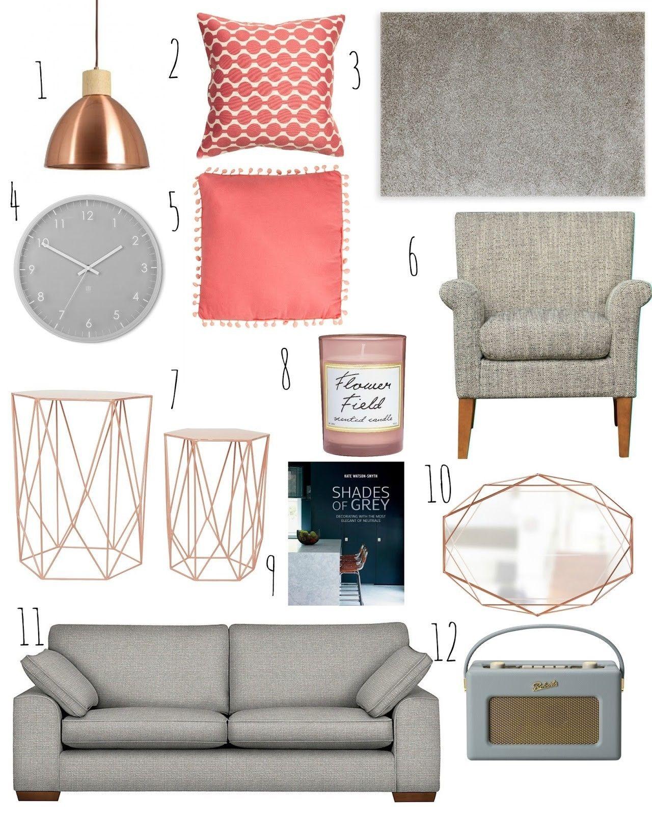 Pin von Simone Bennett auf rose gold & grey living room | Pinterest