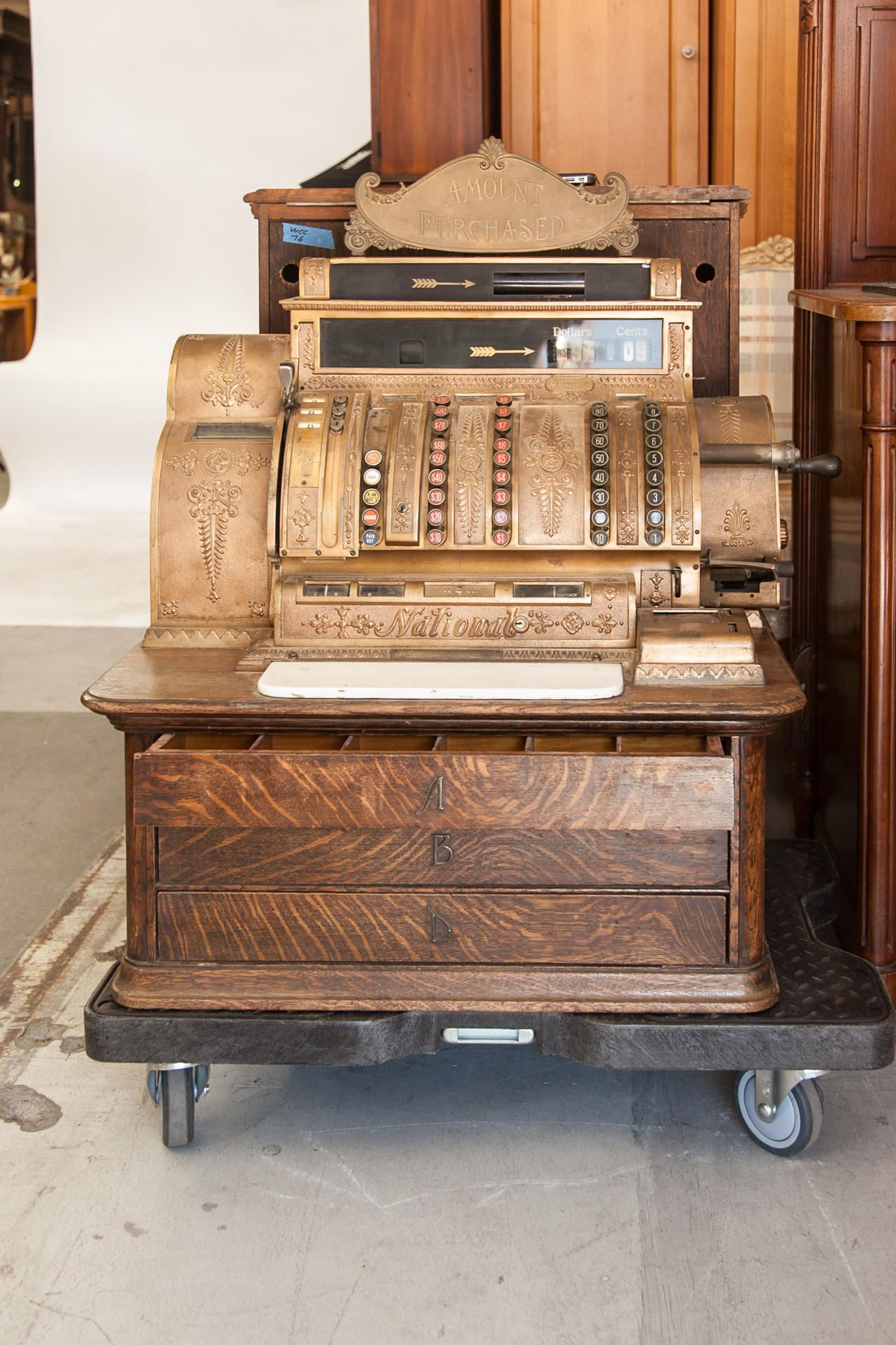 Old West National Cash Register Fleapop  Buy And Sell