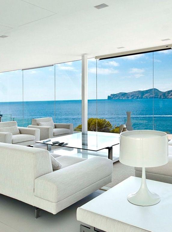 World of Architecture: Modern White Interior Design In Outstanding Mallorcan Villa | #worldofarchi #architecture #home #house #modern #spain #LivingRoom