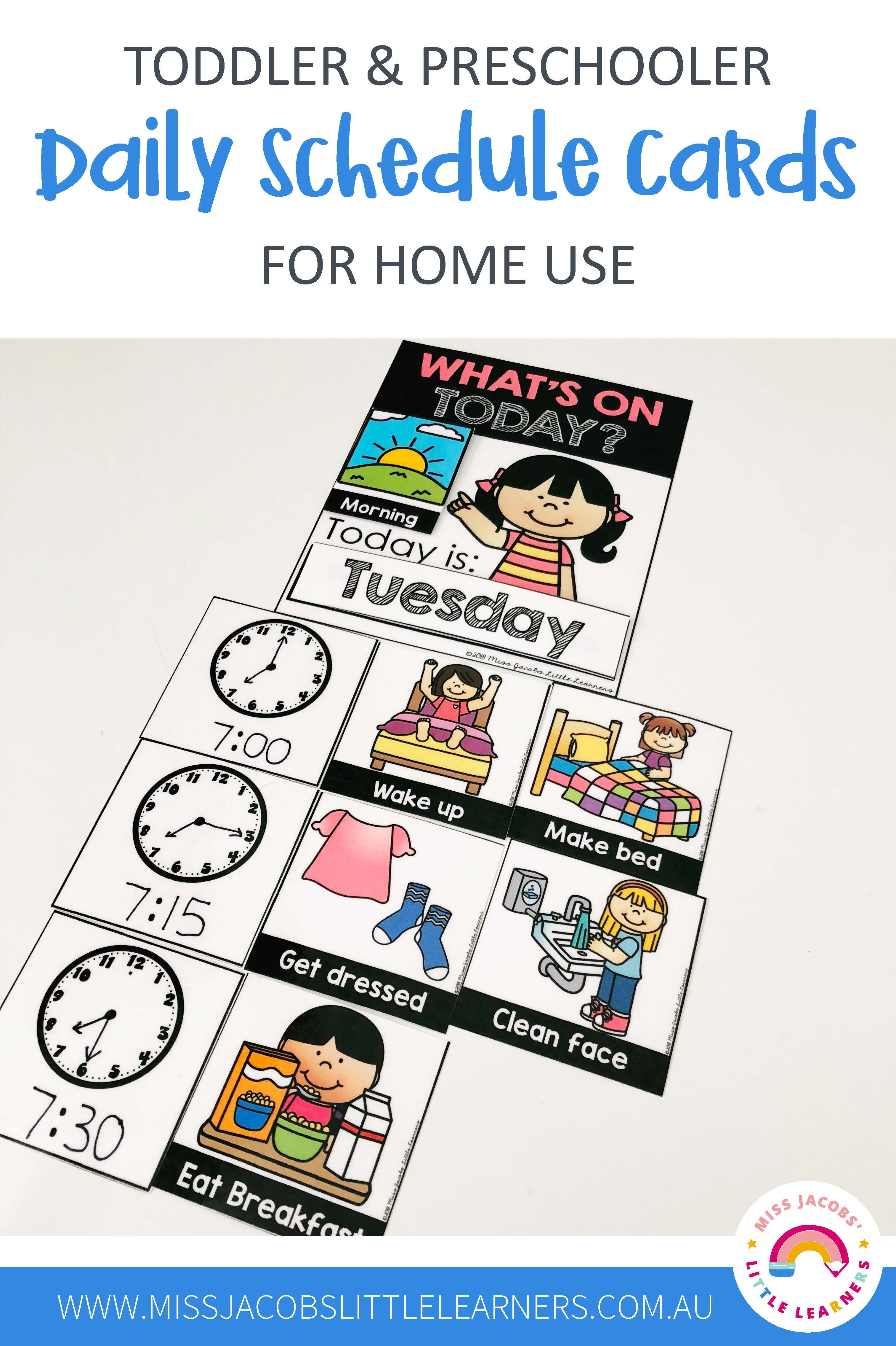 Daily Schedule For Home Use
