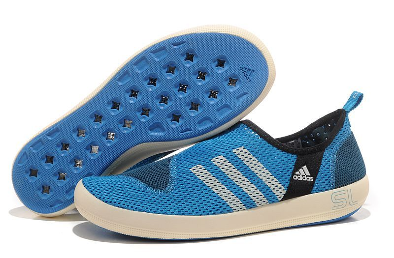 hot sales 887b7 4b115 Adidas ClimaCool Boat Shoes SL Blue