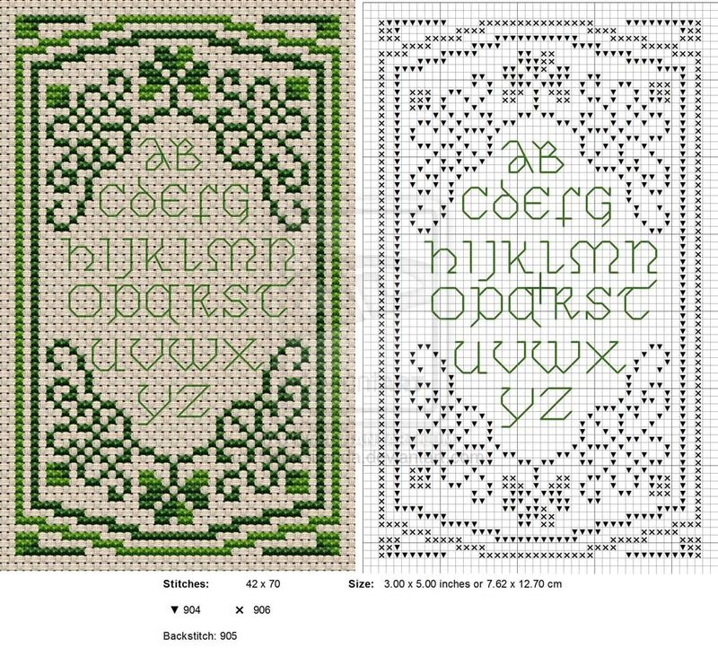 CROSS STITCH PATTERN ONLY SIMPLE BLESSING SAMPLER 1a