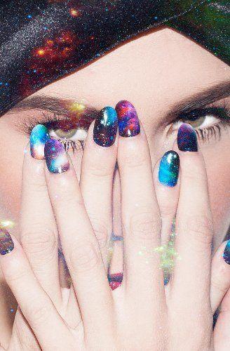 NCLA Women's The NCLA x Nailing Hollywood Stephanie's Galaxy Nail Wrap One Size Multi:Amazon:Beauty