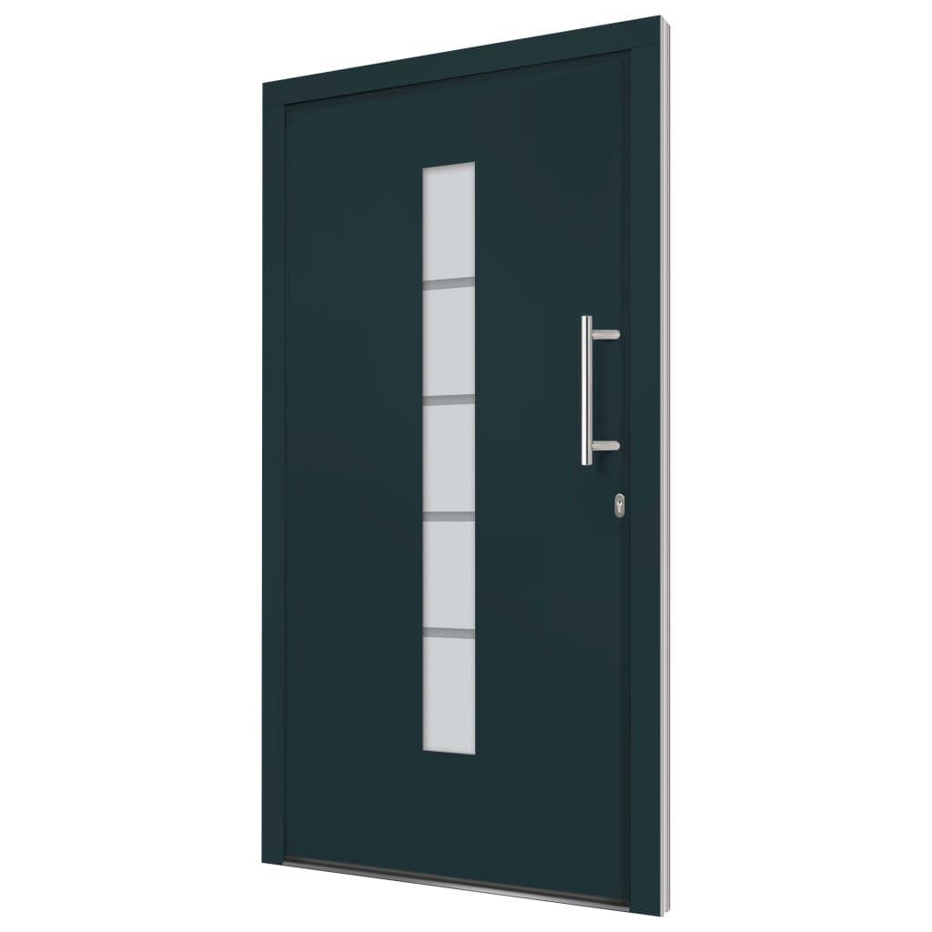 Front door 100×200 cm aluminum and PVC anthracite