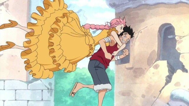 Luffy Rebecca One Piece Episode 742 One Piece Episodes One