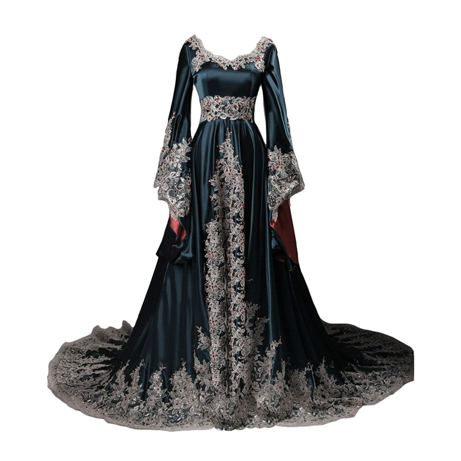 Lemai Vintage Long Sleeves Formal Evening Gowns A Line Women Gothic Dresses Details Can B Long Sleeve Vintage Dresses Gothic Dress Long Sleeve Dress Formal [ 1500 x 1500 Pixel ]
