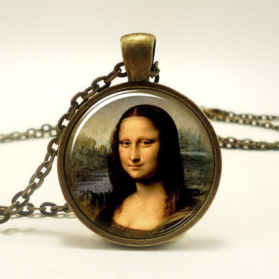 Leonardo da Vinci Pendant Mona Lisa Necklace Pendant by rainnua, $12.65