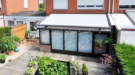 Store extérieur motorisé pour veranda verandazonwering brustor
