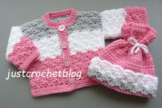 Crochet dolls coat-hat, a free crochet pattern for a premature baby ...
