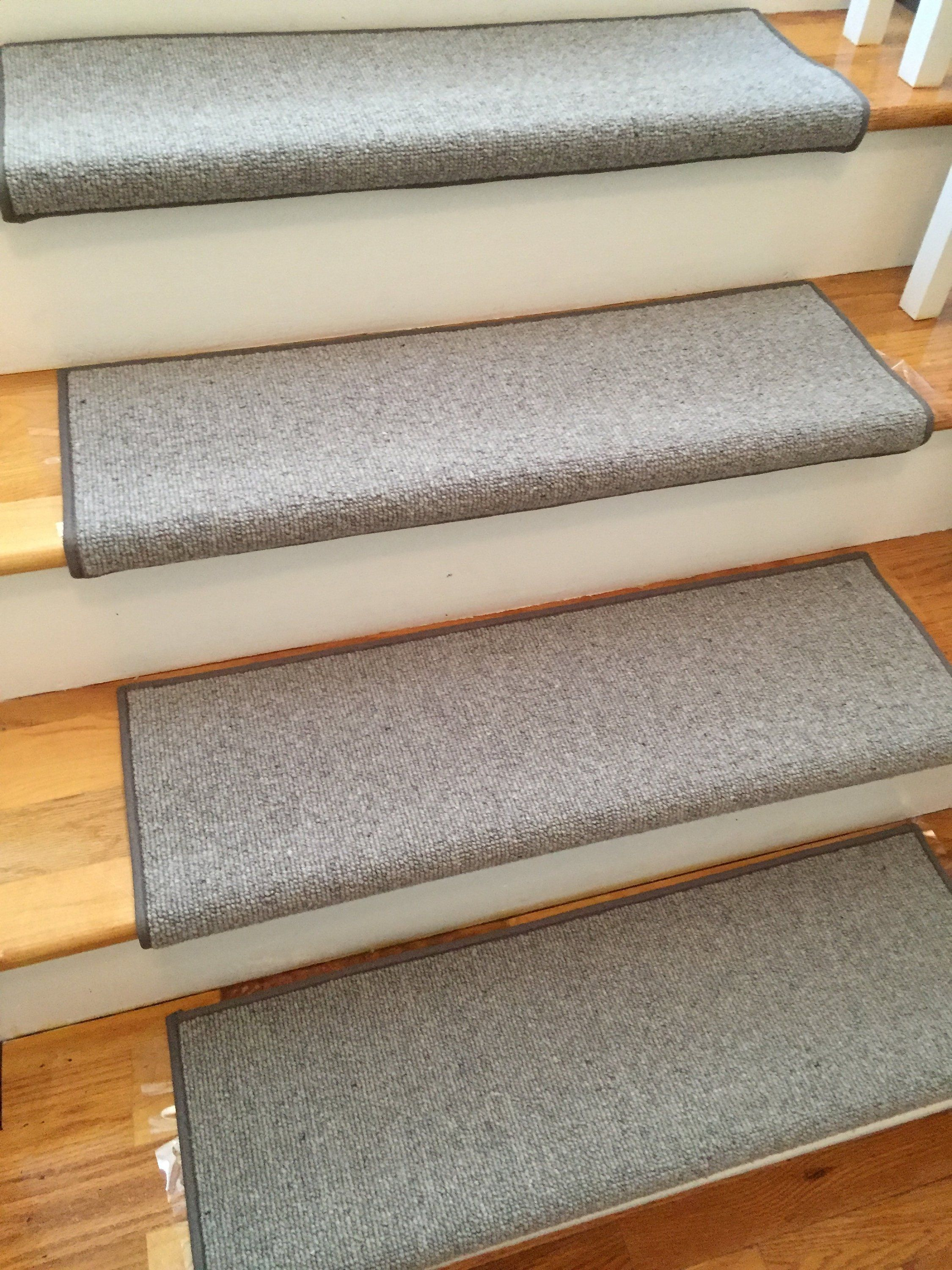 Best Morocco Quarry Grey 100 Wool True Bullnose™ Padded Carpet Stair Tread Runner Replacement For 400 x 300