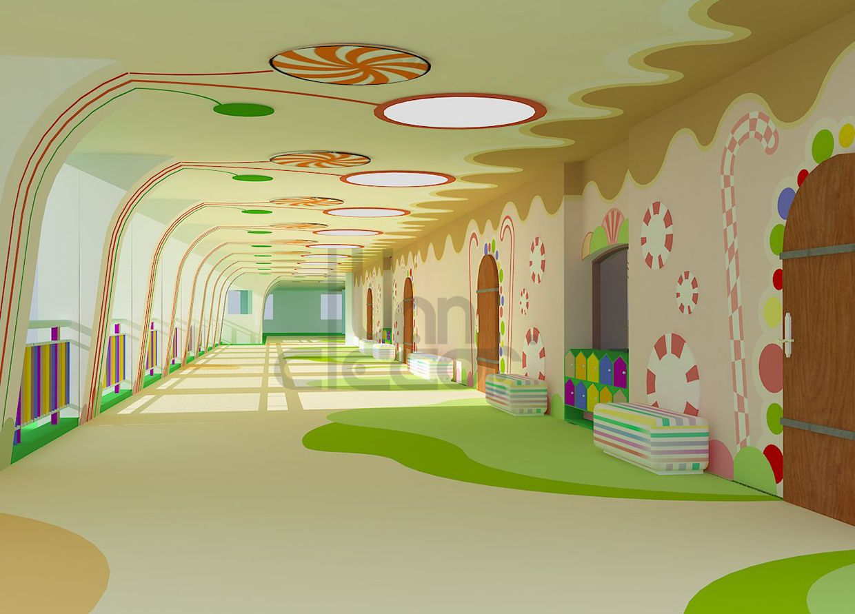 Kindergarten Interior Design On Behance Pinteres