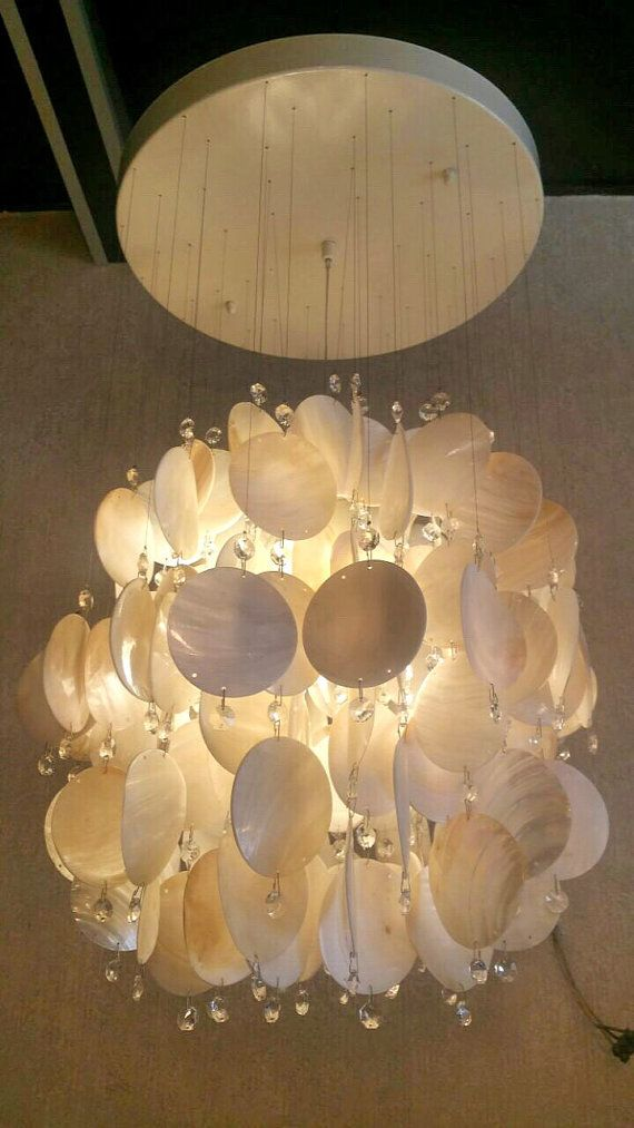 Capiz shell chandeliercapiz shell discshell chandeliershell pendant lightshell fixture lightchandelier lightingmoroccan lighting
