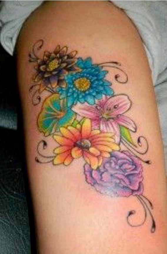 Birth Flower Tattoos: Pin By Peggy Gallardo On Tats