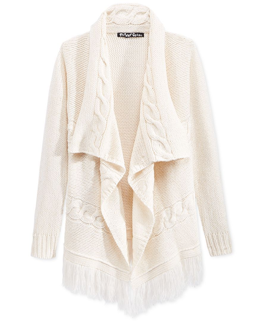 Planet Gold Girls' Shawl Open-Front Sweater | Clothing | Pinterest ...