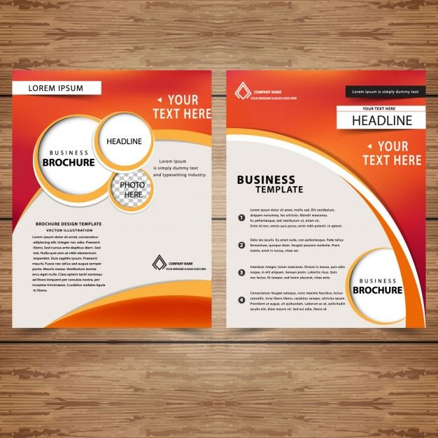 Plantilla De Folletos Profesionales De Negocio Vector Gratis   Business  Pamphlet Templates  Business Pamphlet Templates