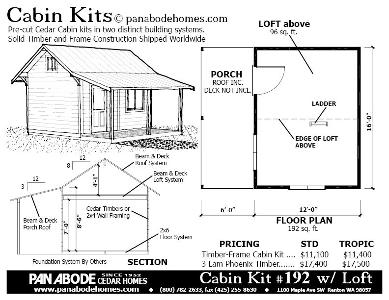 196 sq ft timber frame cabin kit near Seattle. | tiny houses ...