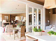 Salón y comedor desde la cocina