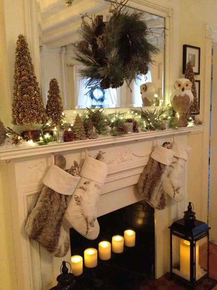 Pottery Barn Christmas Mantel | christmas | Christmas ...