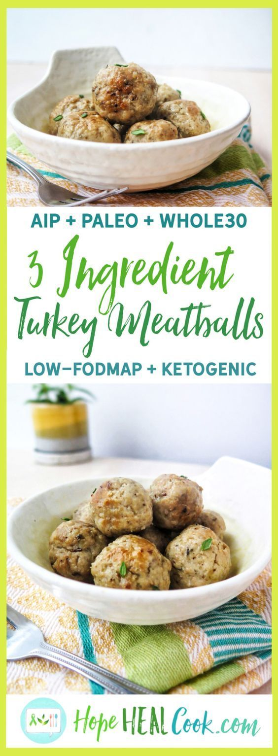 Photo of 3 Ingredient Turkey Meatballs – Hope Heal Cook