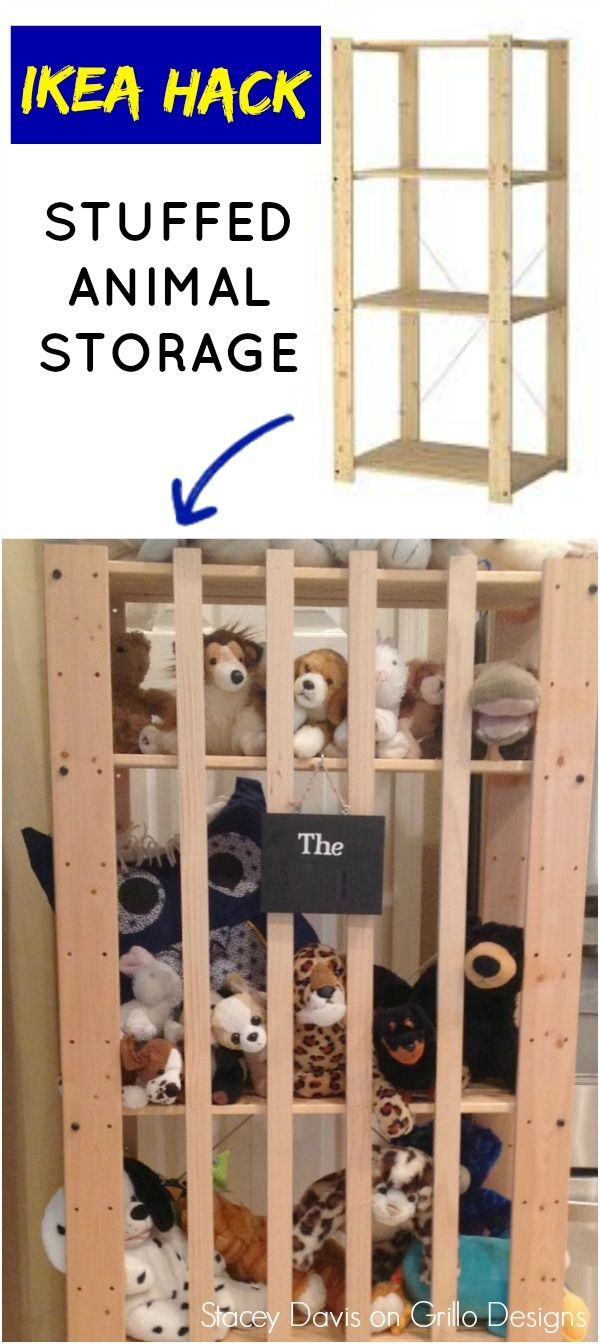 ikea hack: stuffed animal storage | ideas for the house
