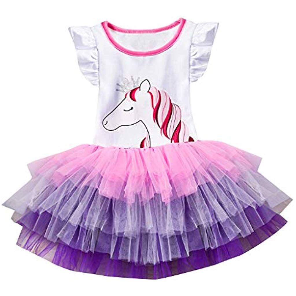 K Youth Vestidos Bebé Tutú Vestido Estampado De Unicornio Para Niña Niñas Infantil Vestido Vestidos Niña Verano Vestidos De Fiesta Para Niñas Trajes Para Niños
