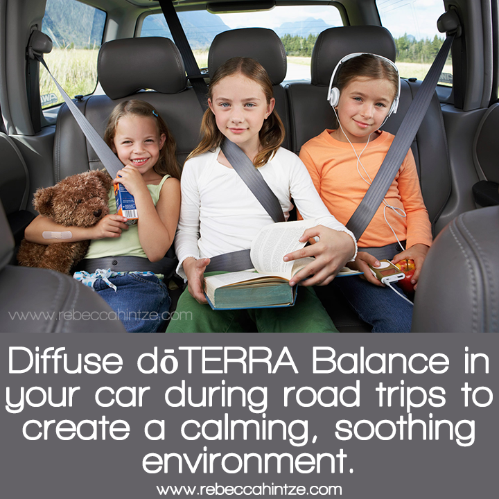 #Diffuse #dōTERRA #Balance in your car during road #trips to create a #calming, soothing environment""